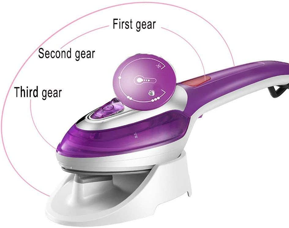 ZHB Steam Iron, Vertical Travel Garment Steam Iron Portable Electric Machine For Ironing Shirts Energy Saving Handy Dry Iron For Home Appliances-purple Purple