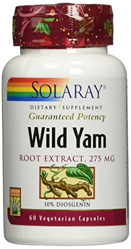Mexican Wild Yam Root (Solaray Wild Yam Root Extract 275mg, 60 Count)