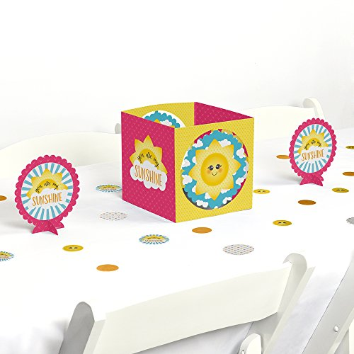 Big Dot of Happiness You Are My Sunshine - Baby Shower or Birthday Party Centerpiece & Table Decoration Kit by Big Dot of Happiness