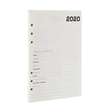 YHH A5 Recambio Agenda 2020, Semana Mensual Anual Vista ...