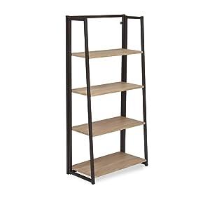 @home by Nilkamal Astrid 4-Tier Book Shelf (Light Oak)