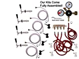 4 Faucet Fridge Kit with Shank, Tailpiece and Standard Faucet, Ball Lock, Chudnow by Kegconnection