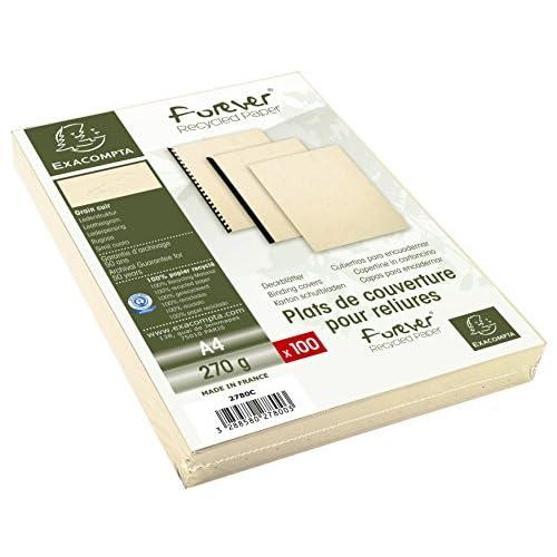 Low Cost Exacompta Evercover Pack De 100f Pour A4 270 G M Ivoire