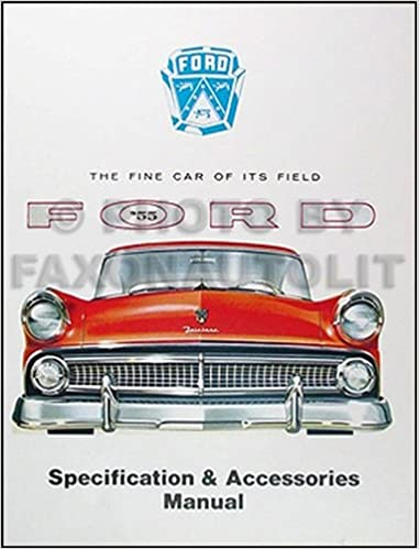 Book 1955 Ford Car Accessories, Options & Specifications Manual 55 Reprint
