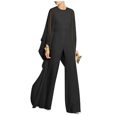 e6ac4c7f96c8e Bon Soir Women Fashion Maxi Skirt Overlay Elegant Party Jumpsuit-(Black-S)