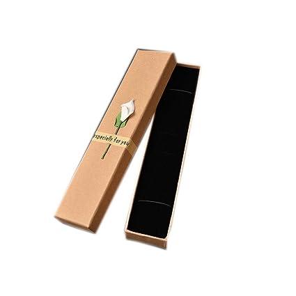 20 Piezas Delicados de Brown del rectángulo de cartón Cajas de regalo con tapa para el