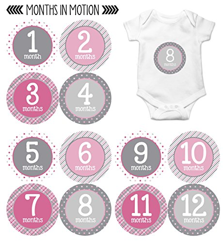 Baby Bodysuit White Pink Sign - 4