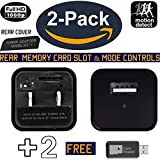 Hidden Camera 2 PACK | Wireless Mini USB Spy Charger Cam | No WiFi So it Can't be Hacked | Two Free Card Readers | Memory Cards Not Included