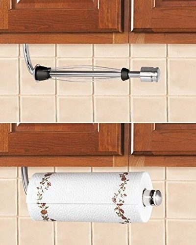 Modern Single Paper Towel Dispenser Kitchen Under Cabinet Stainless Steel  Holder