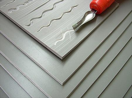 Easy to Cut Unmounted Linoleum- 6x8 Inch Sheet