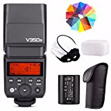 Godox V350S 2.4G GN36 TTL 1/8000s HSS with Li-ion Rechargeable Battery 500 Full Power Camera Flash 22 Steps of Power Outpout(1/1-1/128) for Sony A7RIII A7RII A7R A58 A99 ILCE6000L A77II RX10 A9