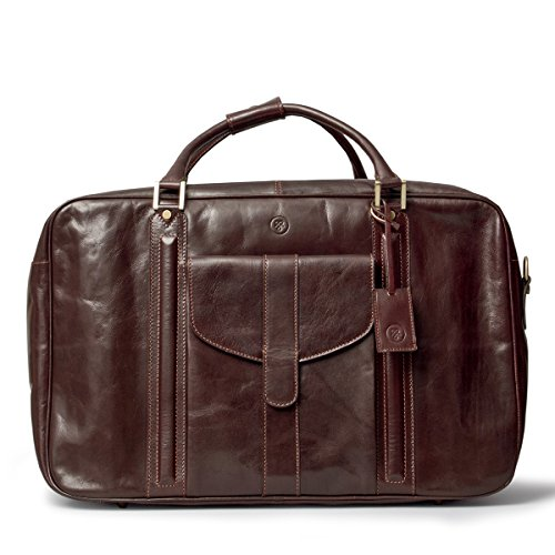 Maxwell Scott Luxury Brown Leather Suitcase Bag for Men (The Maurizio) by Maxwell Scott Bags