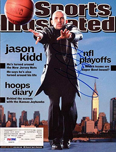 127da9a0163 Jason Kidd Autographed Sports Illustrated Magazine New Jersey Nets #X59970  - PSA/DNA Certified - Autographed NBA Magazines at Amazon's Sports  Collectibles ...