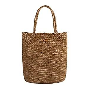 I-MART Summer Tote Woven Bag Shoulder Bag Pastoral Straw Beach Bag Handbags