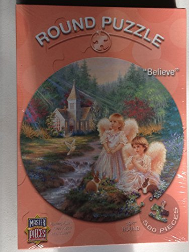 Believe - Featuring the Art of Dona Gelsinger - 500 Piece Puzzle 19.5 Round by MasterPieces