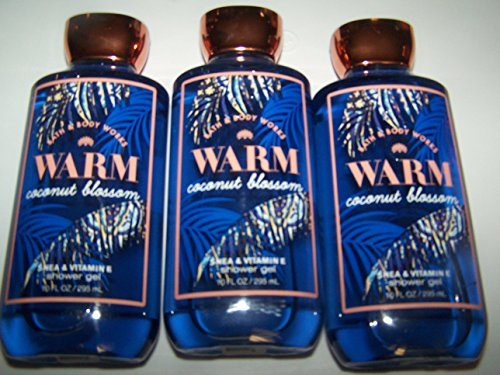 Lot of 3 Bath & Body Works Warm Coconut Blossom Shea & Vitamin E Shower Gel 10 oz