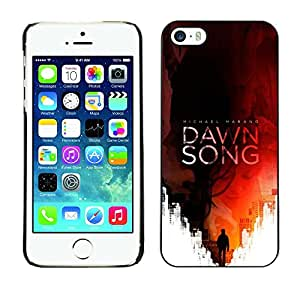 Planetar® ( Song Book Cover Red Man Reading ) iPhone 5 / 5S Fundas Cover Cubre Hard Case Cover