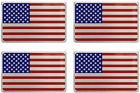 US USA America Flag Aluminum Sticker Big Auto Car 3D Logo Emblem Badge New Decal