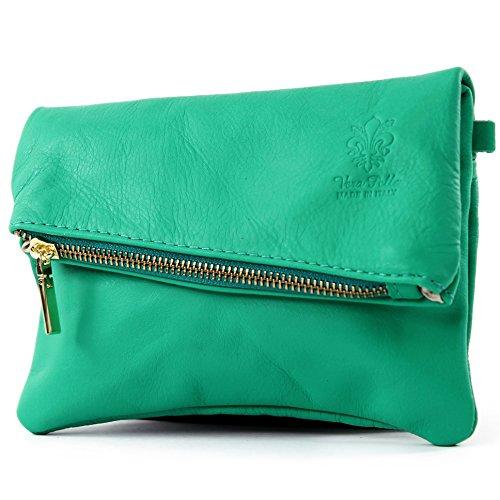 leather modamoda ladies de Clutch Wrist T95 Oceangrn shoulder Bag bag ital leather small bag bag FqpTnEwT