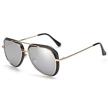 GAOLIXIA Gafas de Sol para Mujer Cross Eye Aviator con Marco ...