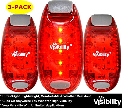 LED Safety Lights (3 Pack) + FREE Bonuses | Strobe Light Bike, Running, Dogs, Walking | The Best High Visibility Accessories for Reflective Gear, Bicycle Helmet, Runner Vest, Pet Collar ()