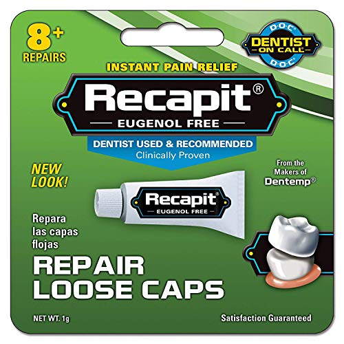 Recapit Cap And Crown Cement - 1 Grm, Pack of 6 (Permanent Crown Cement)