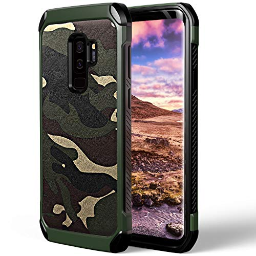 ASAKUKI Shockproof Case for Galaxy S9 Plus, Full Body Heavy Duty Protection Shockproof Camouflage Rugged Cover Compatible with Samsung Galaxy S9 Plus (6.2 Inch)