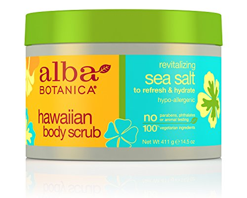 Alba Botanica Revitalizing Sea Salt Hawaiian Body Scrub, 14.5 -