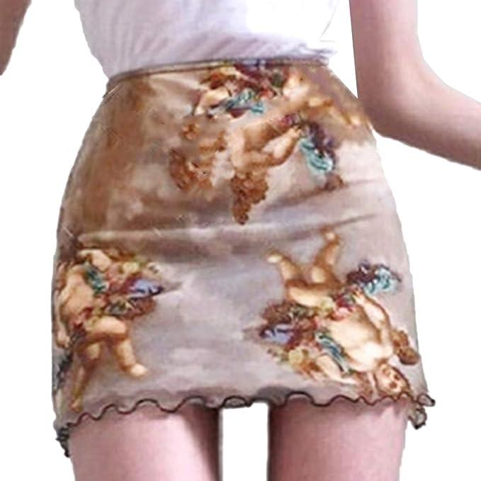 Falda De Malla Transparente para Mujer - Moda Faldas De Cintura ...