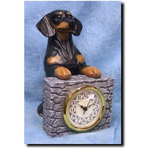 Michael Park BLACK and TAN Dachshund Mantle (Dog Mantle Clock)