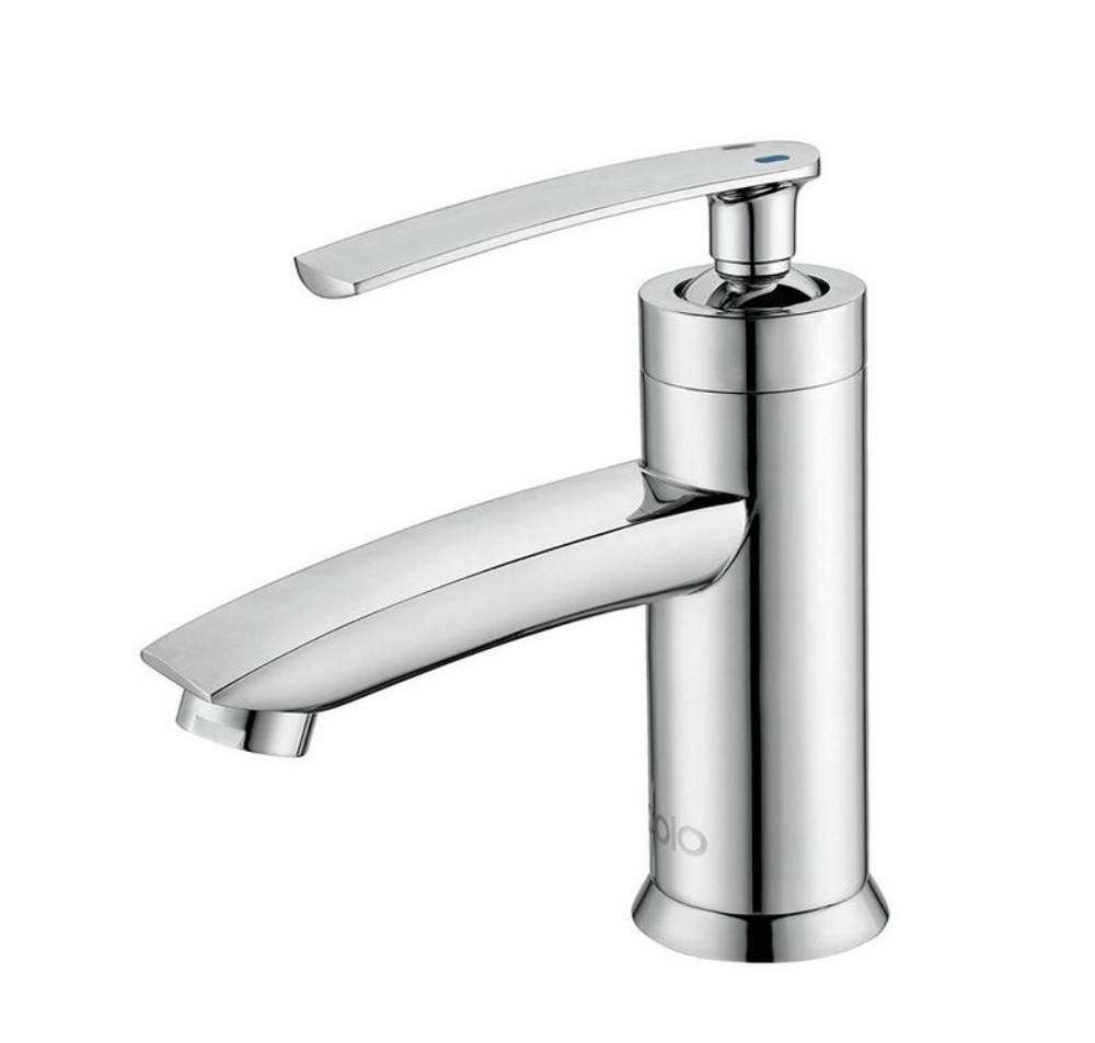 Mixer Basin Taps Single Handle Single Hole Hot and Cold Water Cloakroom Kitchen Lavatory Sink Mixer Tap