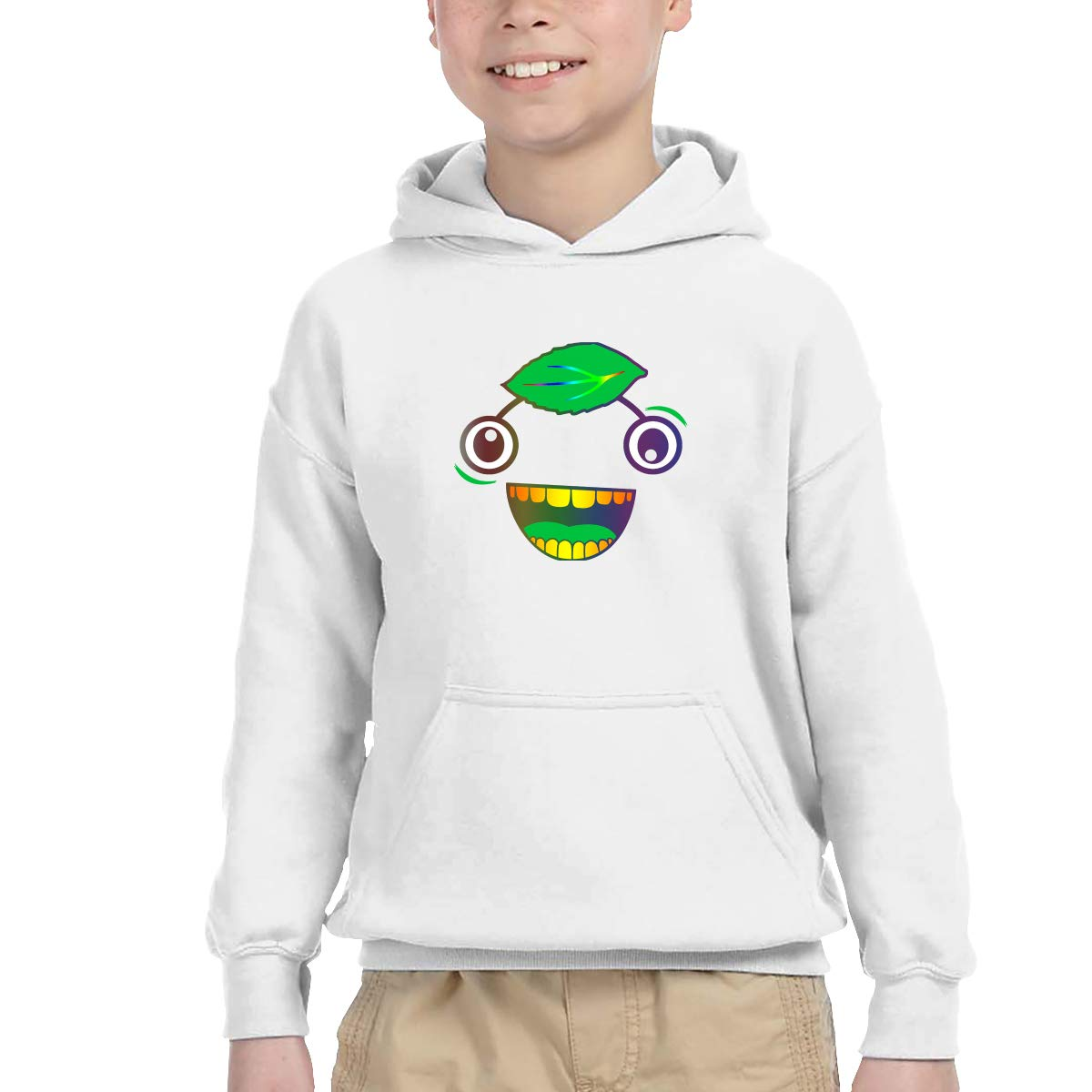 Guava Juice Rainbow Kids Hip Hop Pullover Hoodie Sweater with Kangaroo Pocket Hooded Sweatshirts