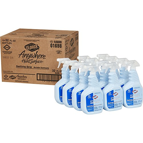 (Clorox Commercial Solution Clorox Anywhere Hard Surface Sanitizing Spray, 32 Ounces, 12 Bottles/Case)