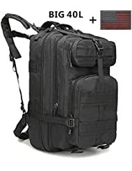 REBIG Military Tactical Backpack big Rucksacks Hiking Bag Outdoor Trekking Camping Tactical Molle Pack Men Tactical...