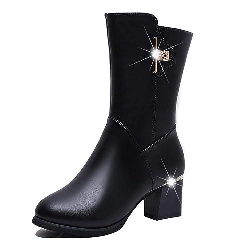 Stiefel Damen Nieten Mumuj Elegante Mädchen Extra Breit
