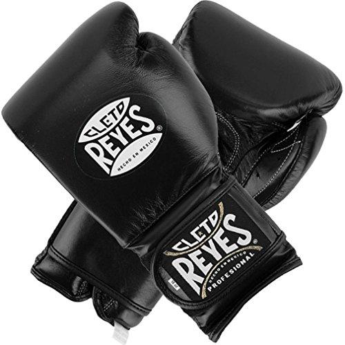 Cleto Reyes Hook & Loop Training Gloves - Velcro - Black 16-Ounce