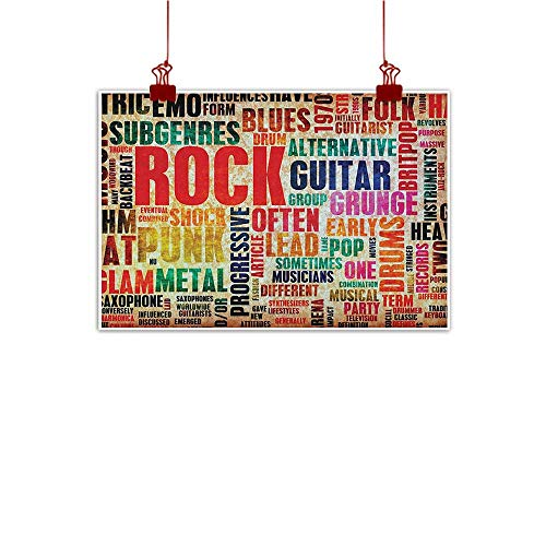 Amazon com : Wall Art Print Home Decor Music, Retro Rock and Roll