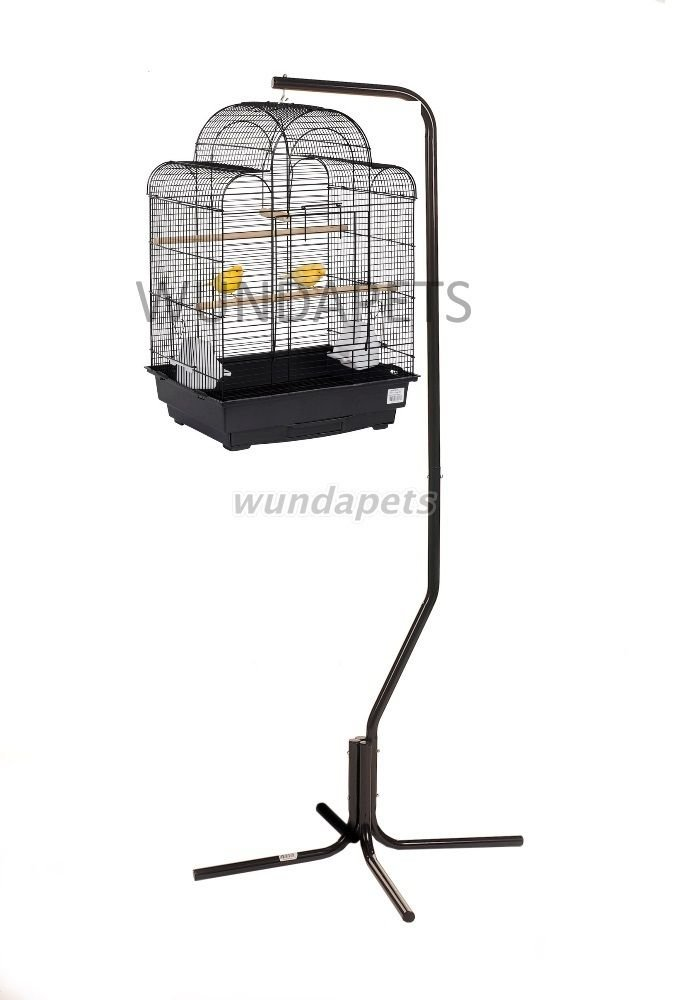 LIBERTA PAGODA BUDGIE CANARY FINCH BIRD CAGE WITH BLACK C7 HANGING STAND