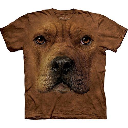 The Mountain - Mens Pitbull Face T-Shirt, Size: XX-Large, Color: Multi