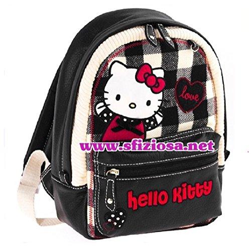 Hello Kitty Zaino Nero Bianco Scuola Gita