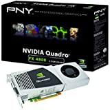 NVIDIA Quadro FX 4800 by PNY 1.5GB GDDR3 PCI Express 2.0 x16 DVI-I DL Dual DisplayPort and Stereo OpenGL, DirectX, CUDA, and OpenCL Profesional Graphics Board, VCQFX4800-PCIE-PB
