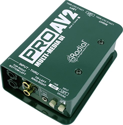 [Radial Engineering ProAV2 Stereo Direct Box] (Stereo Direct Box)