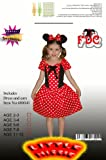Minnie Mouse Style Mini Mouse Girls Fancy Dress Costume Age 5-6 years