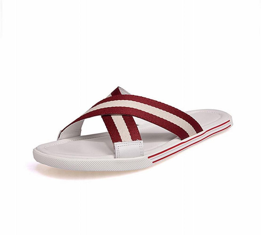 AN Zapatillas de Verano para Hombres, Chanclas, Zapatos de Playa de Moda, Parte Inferior Blanda, Ropa para Exteriores, Sandalias Antideslizantes y Pantuflas,B,40 40|B