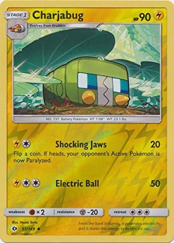 Pokemon: Charjabug Uncommon Reverse Holo 51//149 Sun /& Moon: Base Set