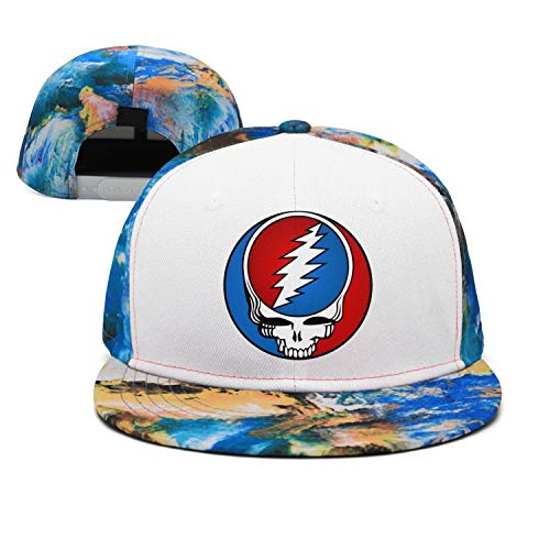 HJHJFT Mens/Woman Adjustable Trucker Hat Grateful-Style-Dead-Symbol-Steal-Your-Face-Vintage- Dad Muisc Baseball Hat Caps (Annotated Cases)