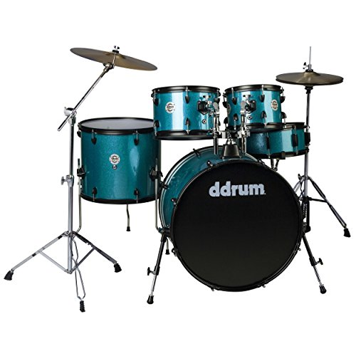 (ddrum D2 Player Series Complete Drum Set with Cymbals, Blue Sparkle)