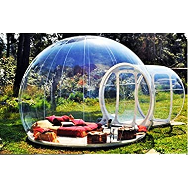 Clear New Millennium Bubble Tent 3-4 person includes inflatable pump and repair kit