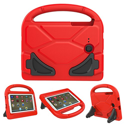 Tab E Lite 7.0 Case - KROMI ShockProof Kids Case Protection Cover Handle Stand Case for Samsung Galaxy Tab 3 Lite 7.0 SM-T110 (2014) / Tab E Lite 7-Inch Tablet SM-T113 (2016), Red (Galaxy Tab 3 Case Handle)