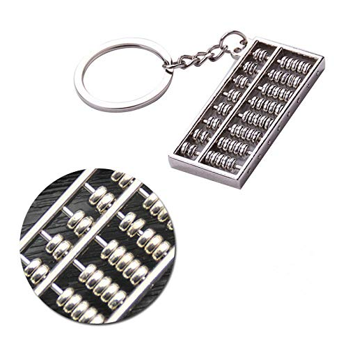 Newkelly Counter Gift Trendy Small Abacus Metal Pendant Key Holder Fashion Key Chain